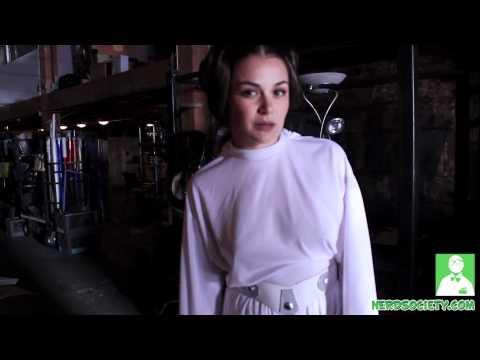 Allie Haze as Sexy Princess Leia - Behind Scenes Star Wars XXX Porn Parody